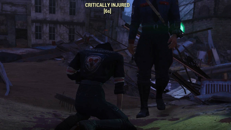 Fallout 76 - PvP - Critically Injured Player