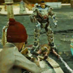 Fallout 76 – PvP – Two Players Fighting – Powersuit