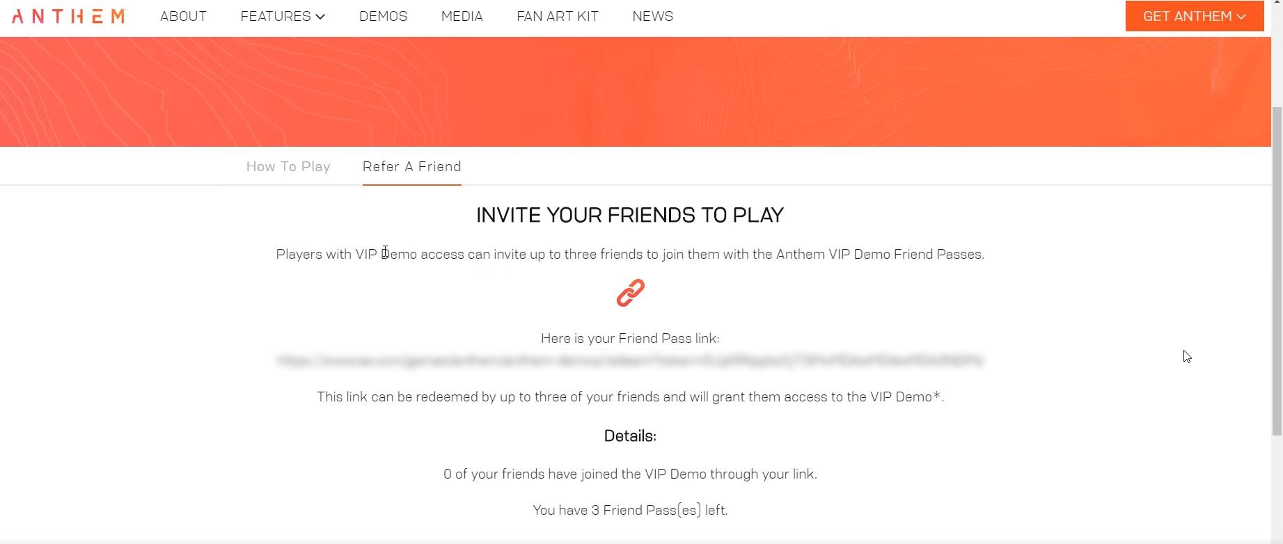 Anthem VIP Demo Closed Beta